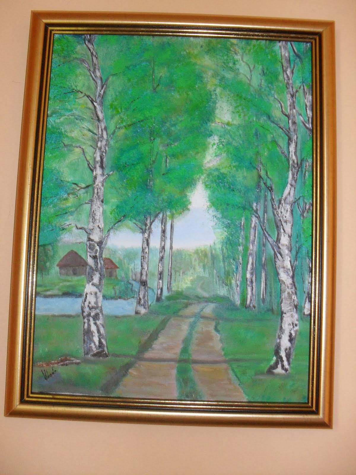 ulje na platnu,umetnička slika-PROLEĆE-Vladisav Bogicevic slikar Luna-Nis