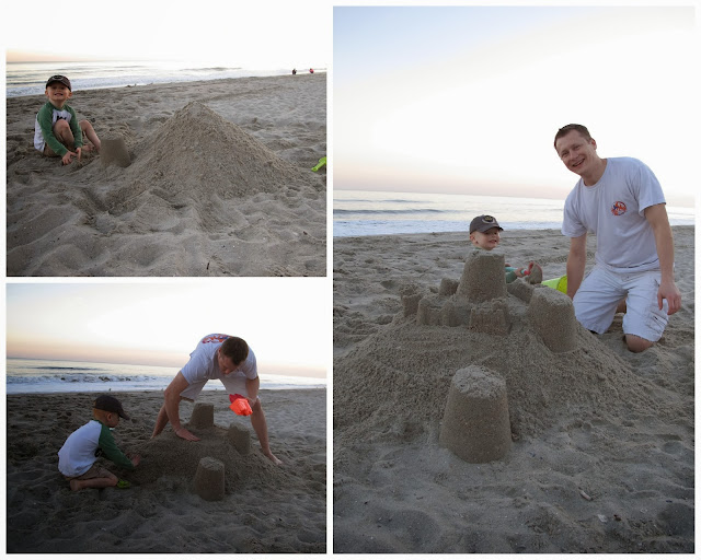 Building in the Sand with Daddy
