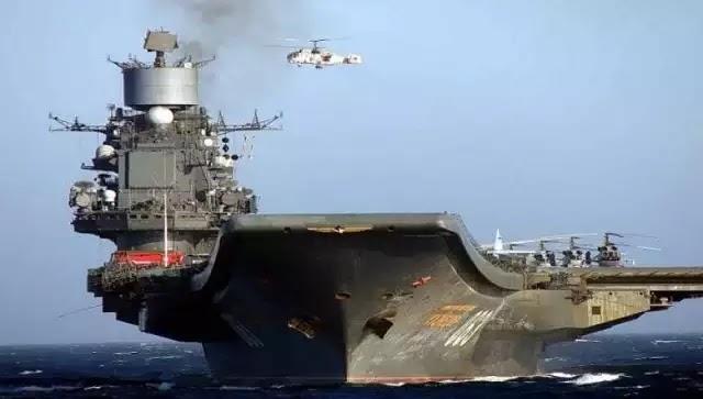 Πρωτοφανές: Την σημαία της Συρίας «σήκωσε» από τον Ατλαντικό το ρωσικό αεροπλανοφόρο «Ναύαρχος Κουζνετσόφ»!