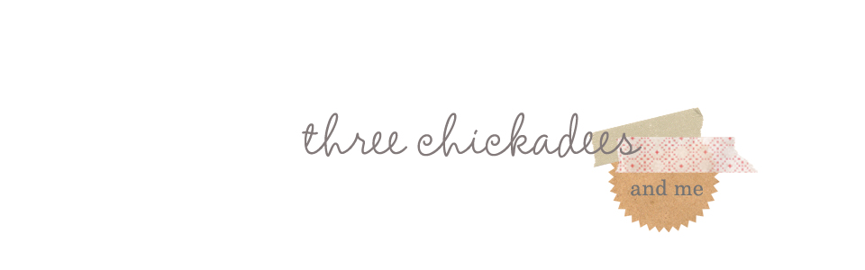 three chickadees