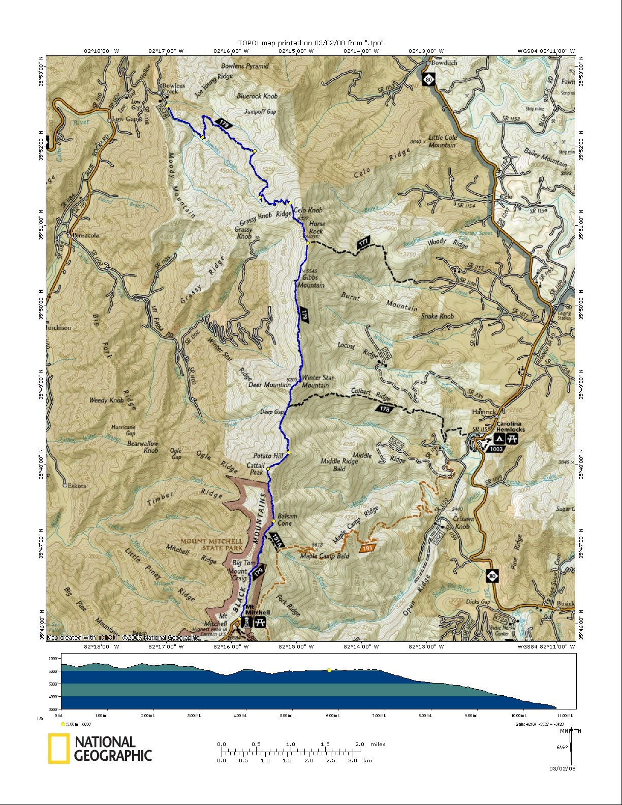 Come Along With Chong: Black Mountain Crest Trail: Bolens ...