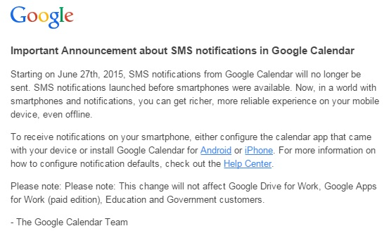 how to stop google calendar email reminders