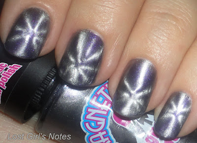 magnetique grey magnetic nail polish