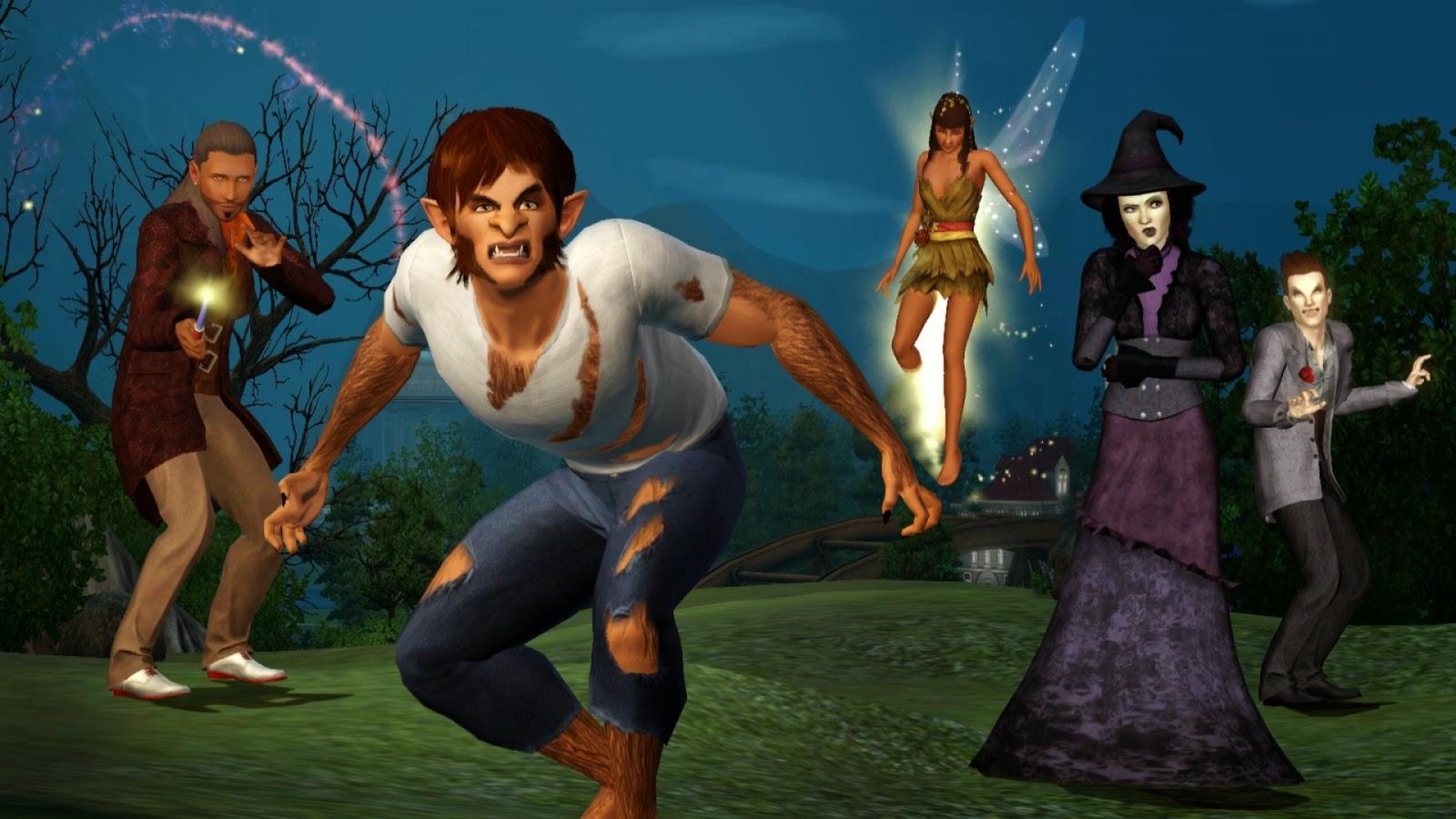 The Sims 3: Supernatural juego completo voces y textos español