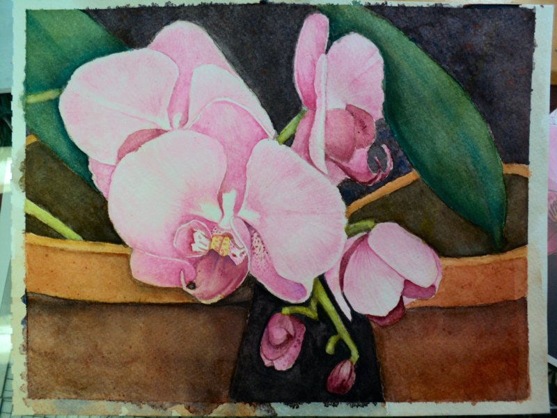 Dana 39 s inspirations my first ever watercolor painting for My first watercolor painting