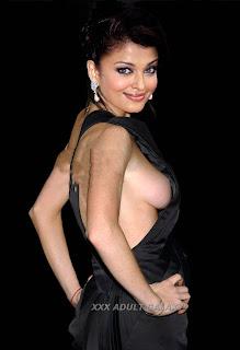 Aishwarya Rai Showing Her Boobs From Black Dress