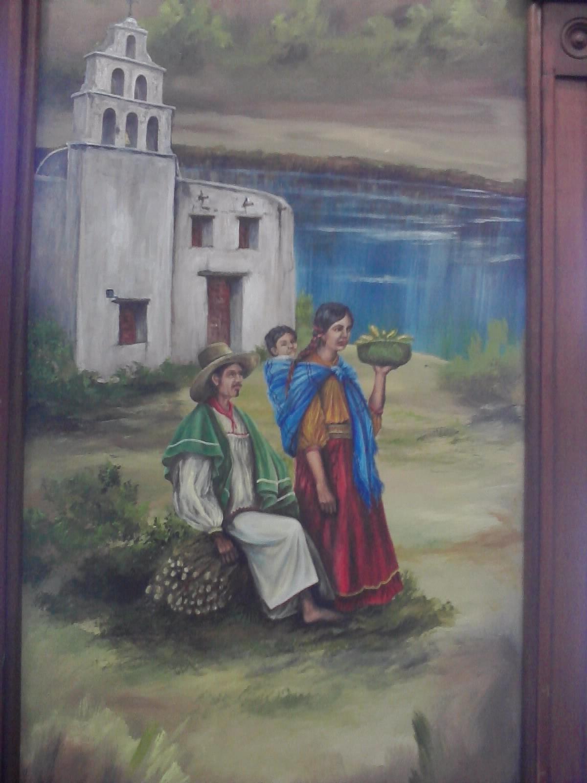 Bitacoraoscar mural fundacion de chihuahua paisaje for Mural una familia chicana