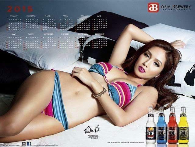 Photos of Roxanne Barcelo Pictorial as Asia Brewery's Calendar Girl