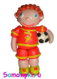 пластилиновый футболист