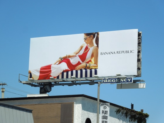 Banana Republic May 2013 billboard