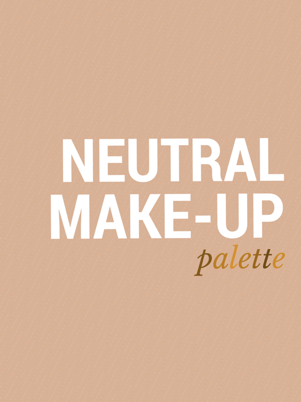 neutral make up palette beauty products