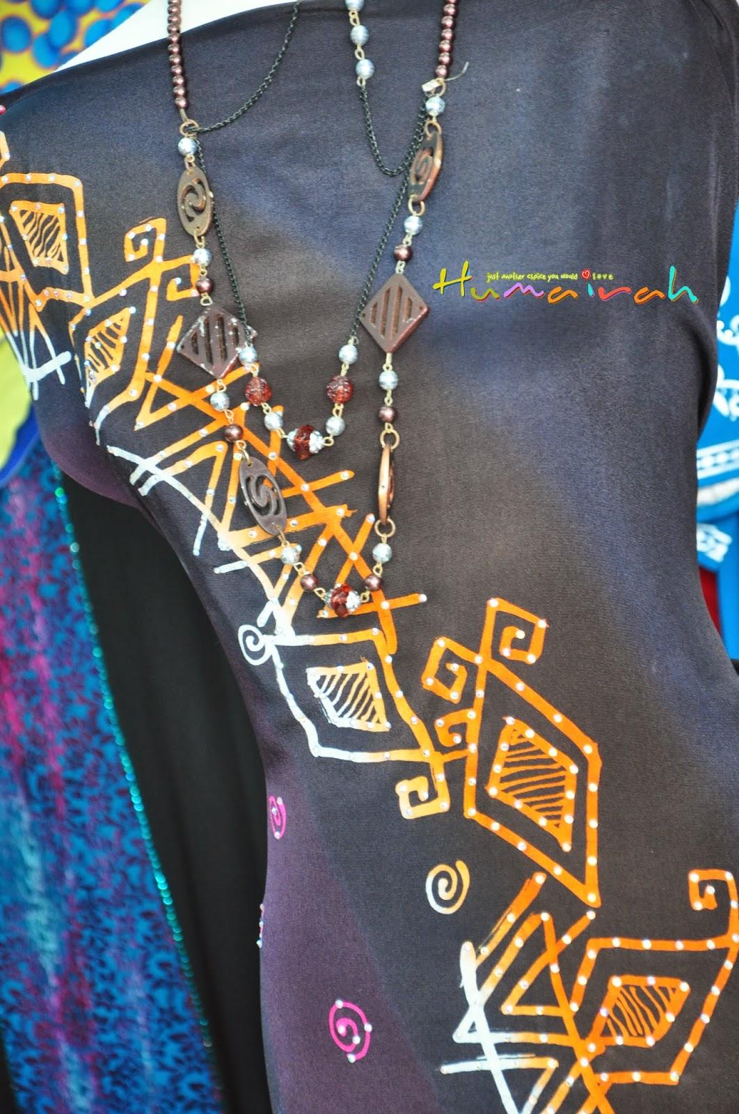 Batik Sutera Handmade Abstrack Hitam Siap Batu 7