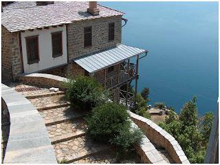 Atos. Pogled iz Manastira Simonopetra.