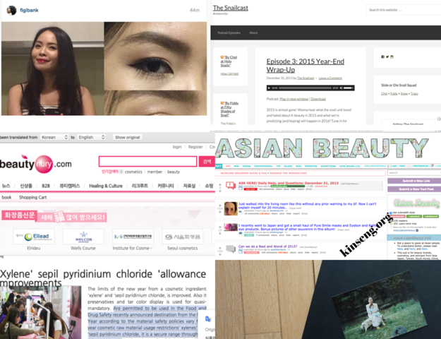 Kinseng's Year in Asian Beauty 2015, Best Asian skincare for dry skin in 2015, etc.