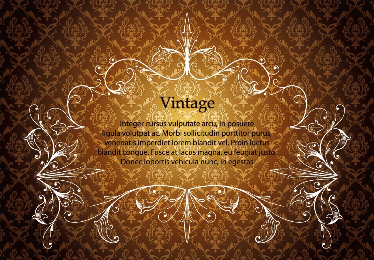ヨーロッパ調の豪華なレース飾りフレーム european gorgeous lace pattern イラスト素材2