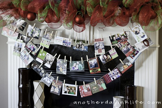 Modern Country Style: Christmas Card Display Ideas