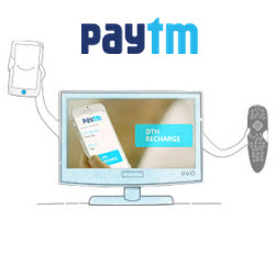 Paytm is offering Cashback offers on DTH Recharge.