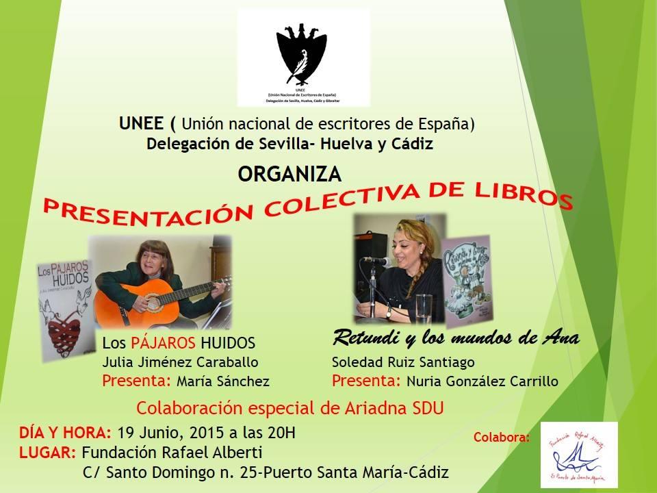 CARTEL DE LA PRESENTACIÓN COLECTIVA DE RAFAEL ALBERTI- EL PUERTO