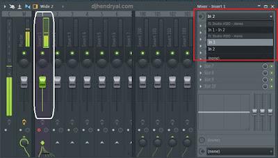 Pengaturan Input mic di Fl studio 12.1