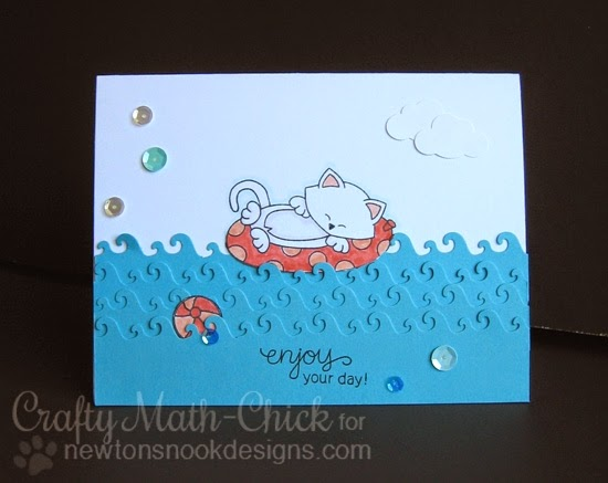 Enjoy Your Day Card by Crafty Math Chick | Newton's Summer Vacation Stamp set by Newton's Nook Designs