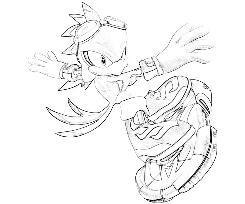 Jet From Sonic Coloring Pages Sonic Riders Coloring Pages