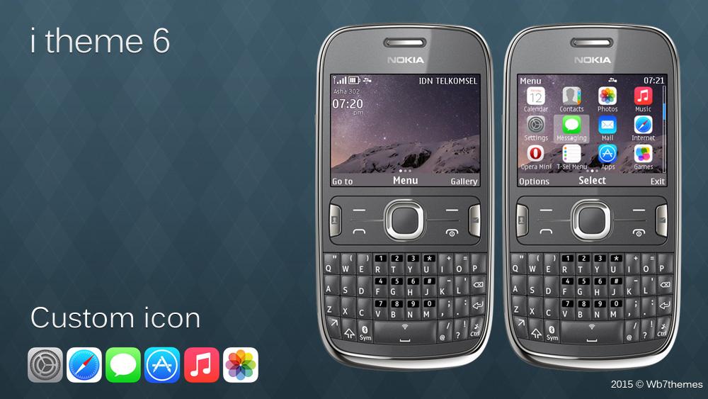 Nokiação: Tema inspirado na interface do iOS 6 para S40s e Asha