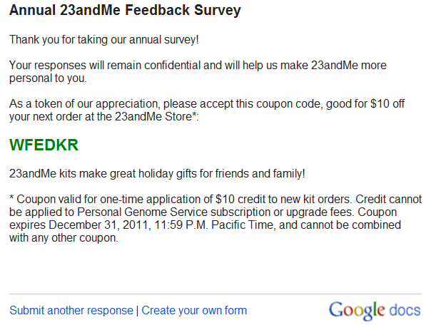 23andme discount coupon