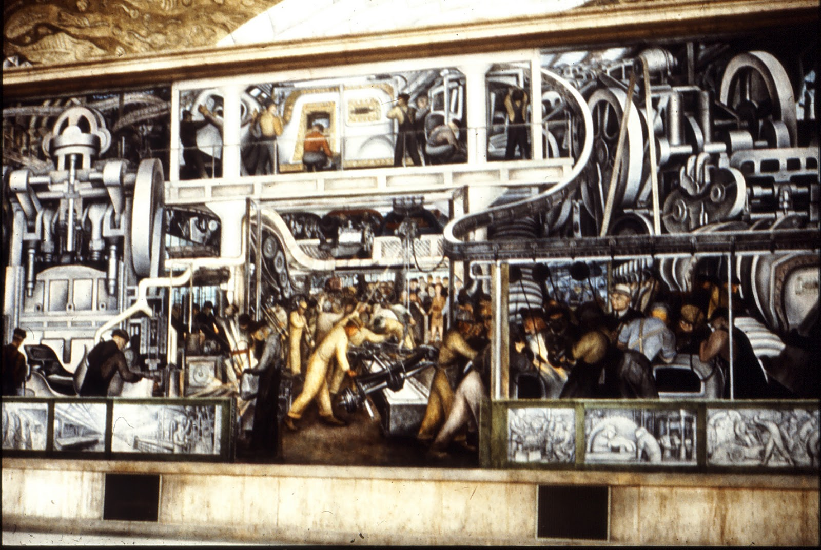 My mural at the rhondda heritage park richard j oliver for Diego rivera mural detroit