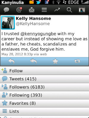 Tweet Of The Day: Kelly Hansome Cries Out. 2