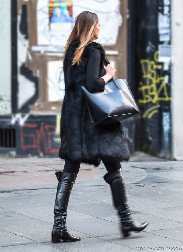 Ulična moda: kako cure u Zagrebu nose čizme preko koljena. Winter chic boots style: how to wear over the knee boots - street fashion inspirations