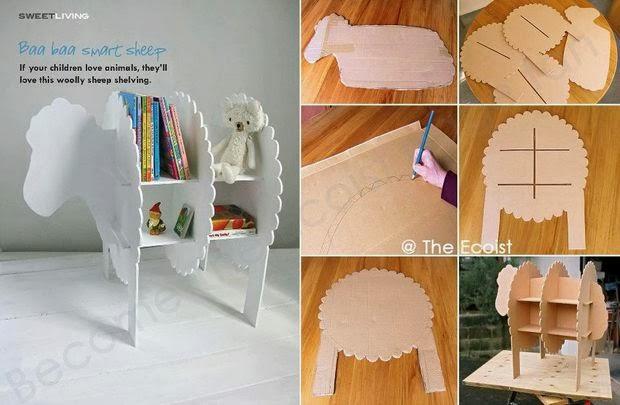 Domowy recycling i DIY, niewidoczna półka na książki, dywan, jak zrobić pompon, aparaty, z kartonu, do dziecięcego pokoju, globus, tablice rejestracyjne, eko, eco, zrób to sam,