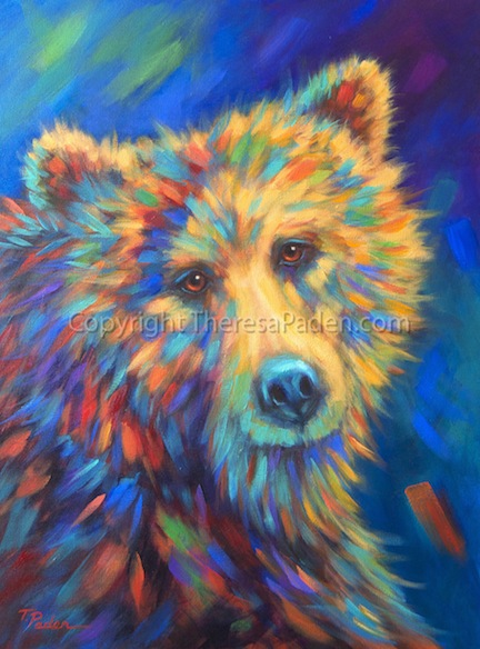 Bright Colorful Animal Art By Theresa Paden