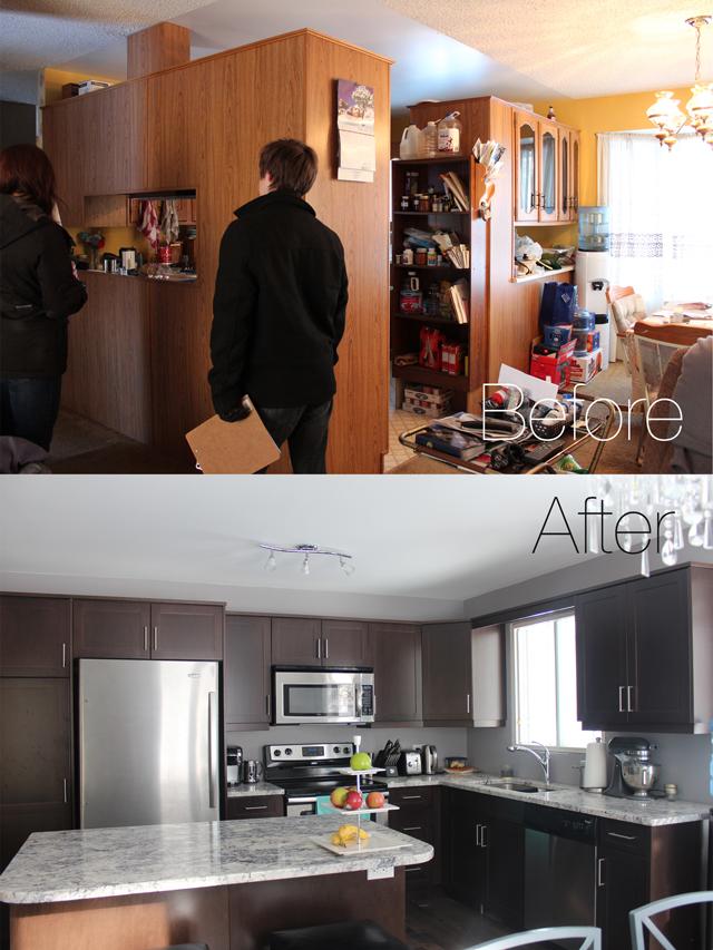 Amazing kitchen transformation - www.prettylittledetails.ca
