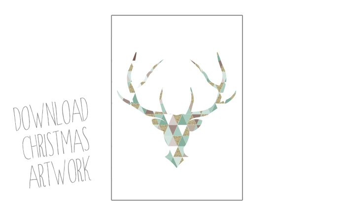 christmas antlers artwork