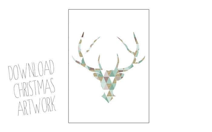 christmas antlers artwork