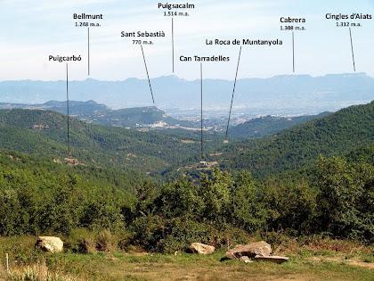 Panoràmica de la vall de Muntanyola des de Garfís