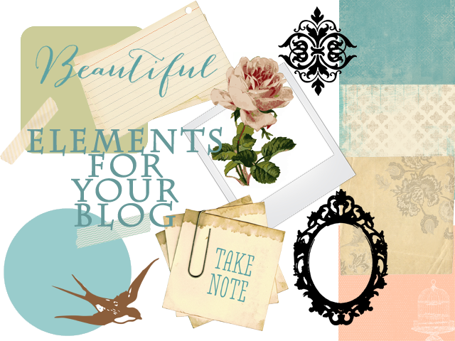 Win these elements to create your own special blog designs!