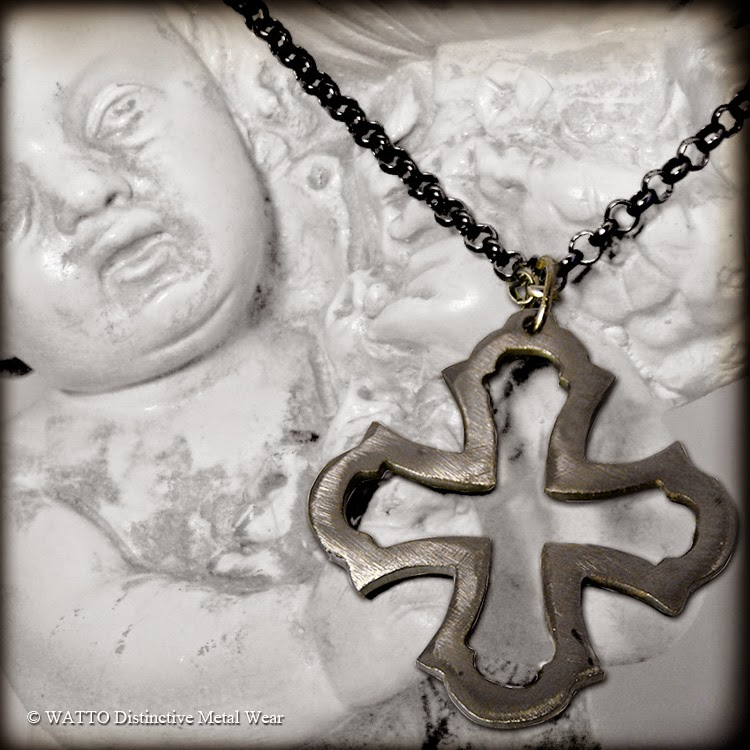 handmade metal cross charm