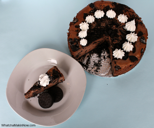 Chocolate OREO Cheesecake - great way to use a whole pack of OREO's @whatchamakinnow