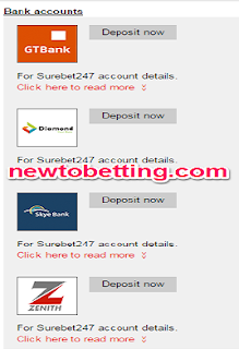 How To Fund Your Surebet247 Account Via Bank Deposit