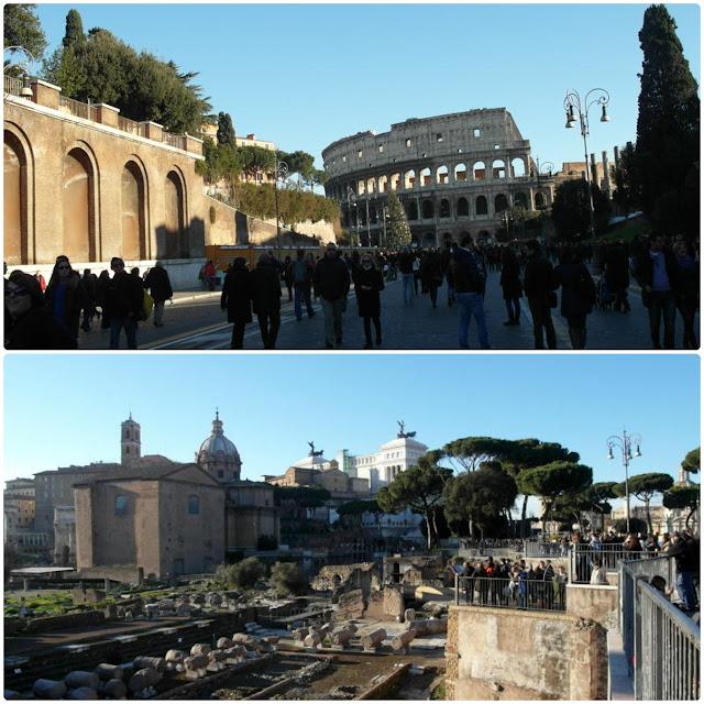 Via dei Fori Imperiali oraz Foro Romano