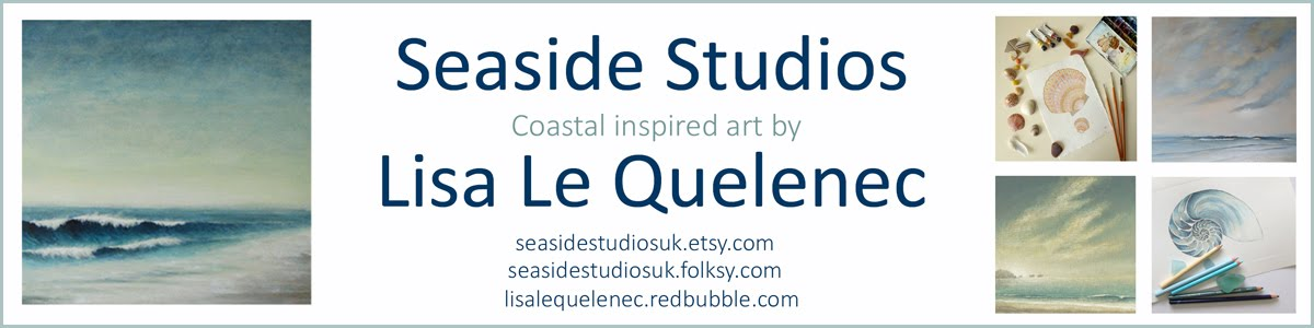 Lisa Le Quelenec Seaside studios paintings, prints and mixed media