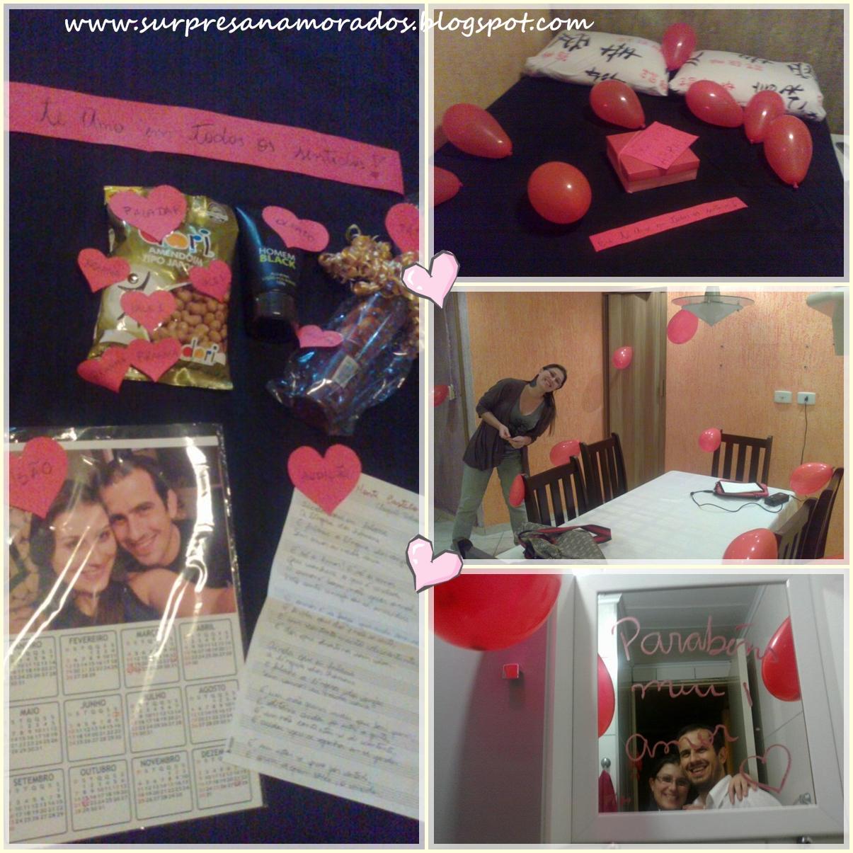 Aniversário do noivo  Surpresas para Namorados