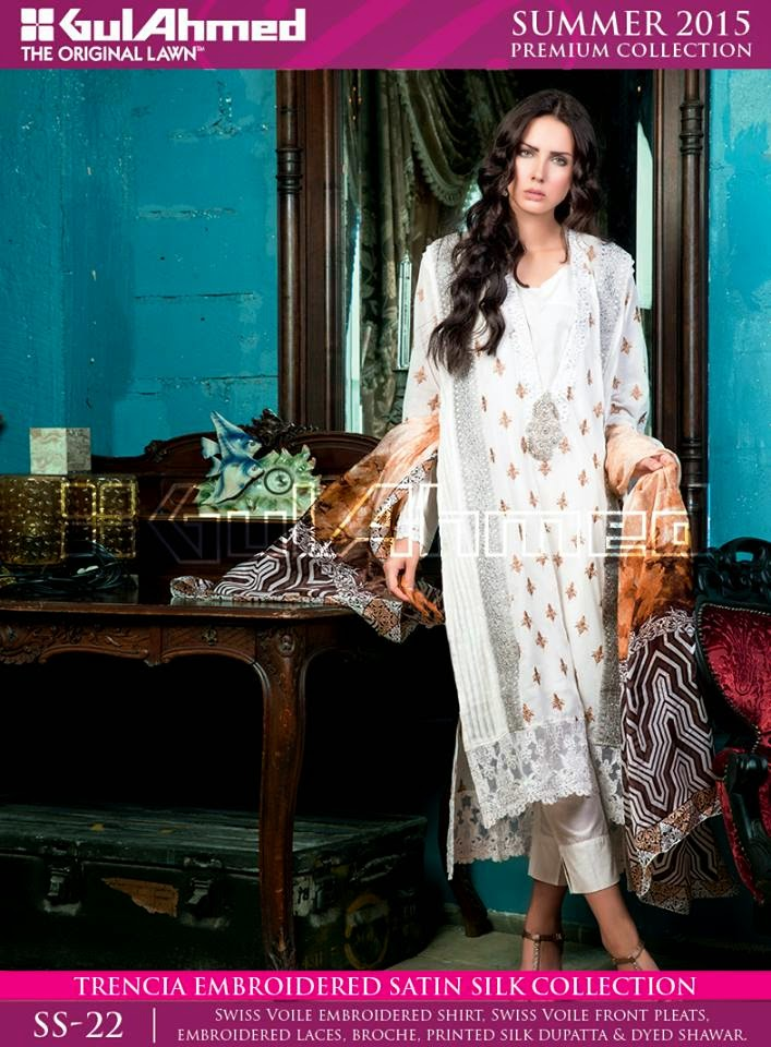 Spring Dresses by Gul Ahmed 2015