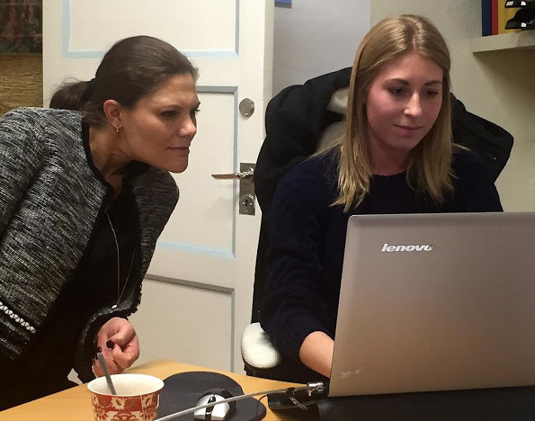 Crown Princess Victoria Visited Tjejzonen's Office In Stockholm