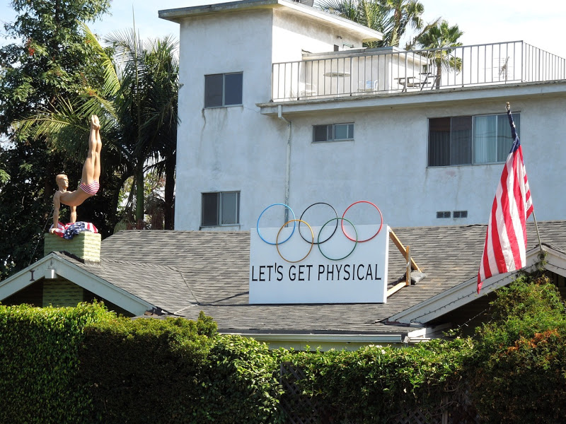 West Hollywood Olympics rooftop display
