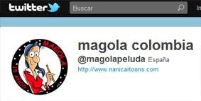 Sigue a Magola en twitter