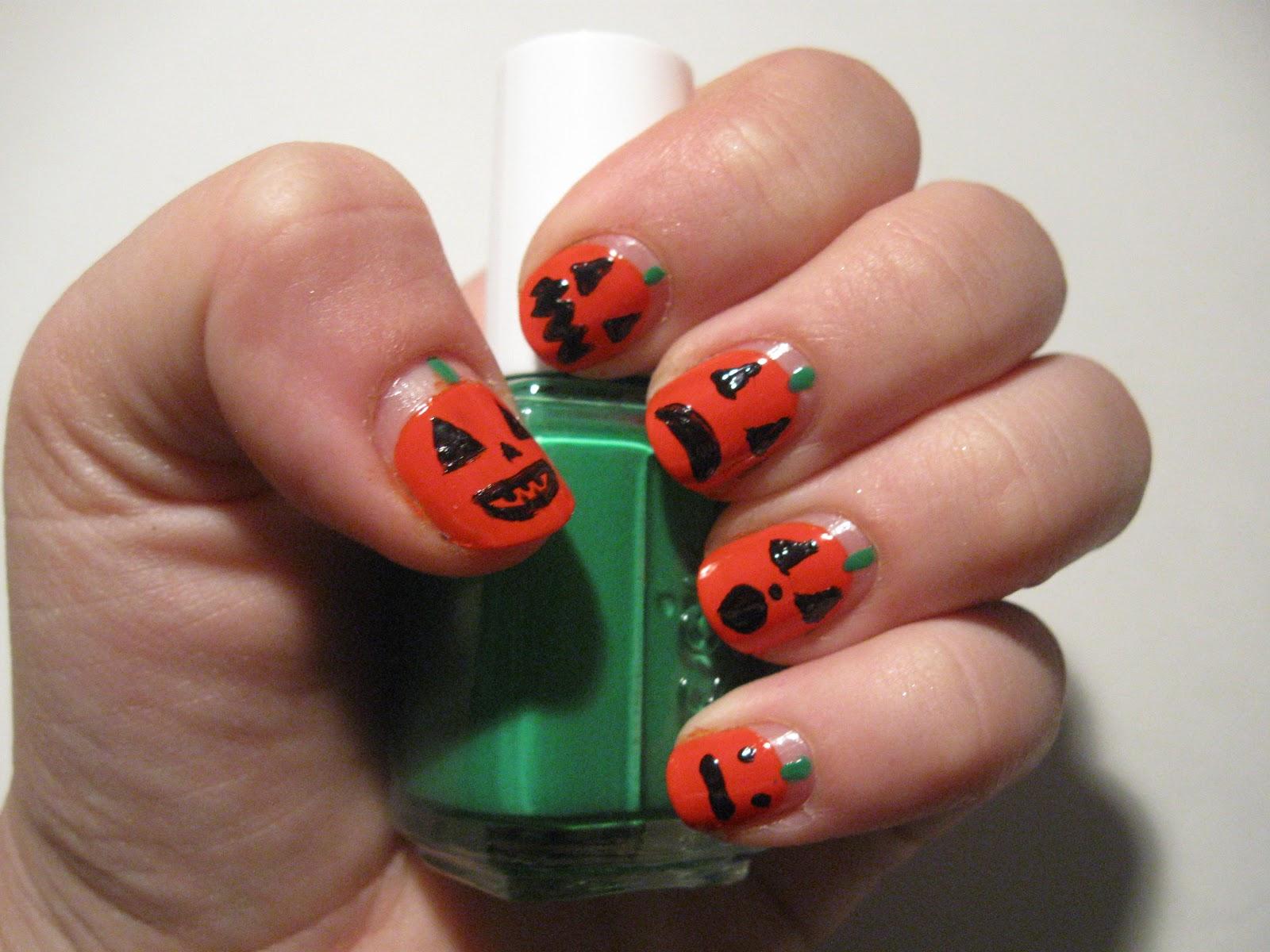 Authentically Urban Pumpkin Nails