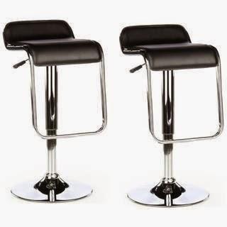 Taburete de Diseño MISO con asiento de piel sintética