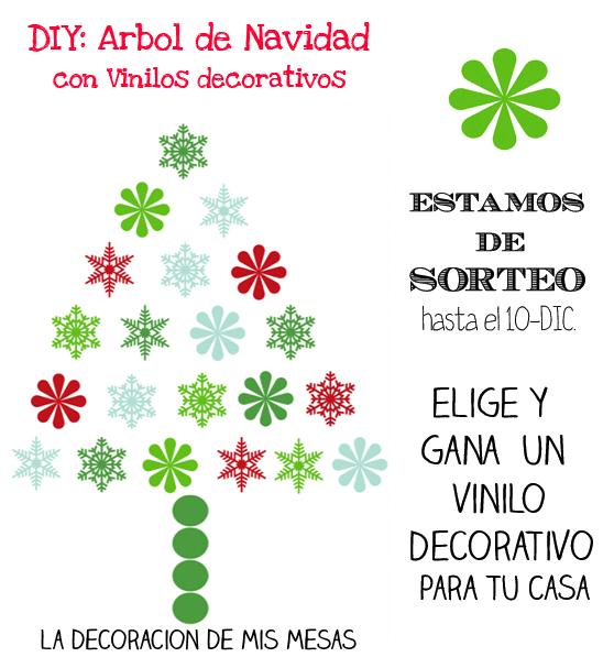 Diy arbol de navidad con vinilos decorativos y sorteo - Decorativos de navidad ...